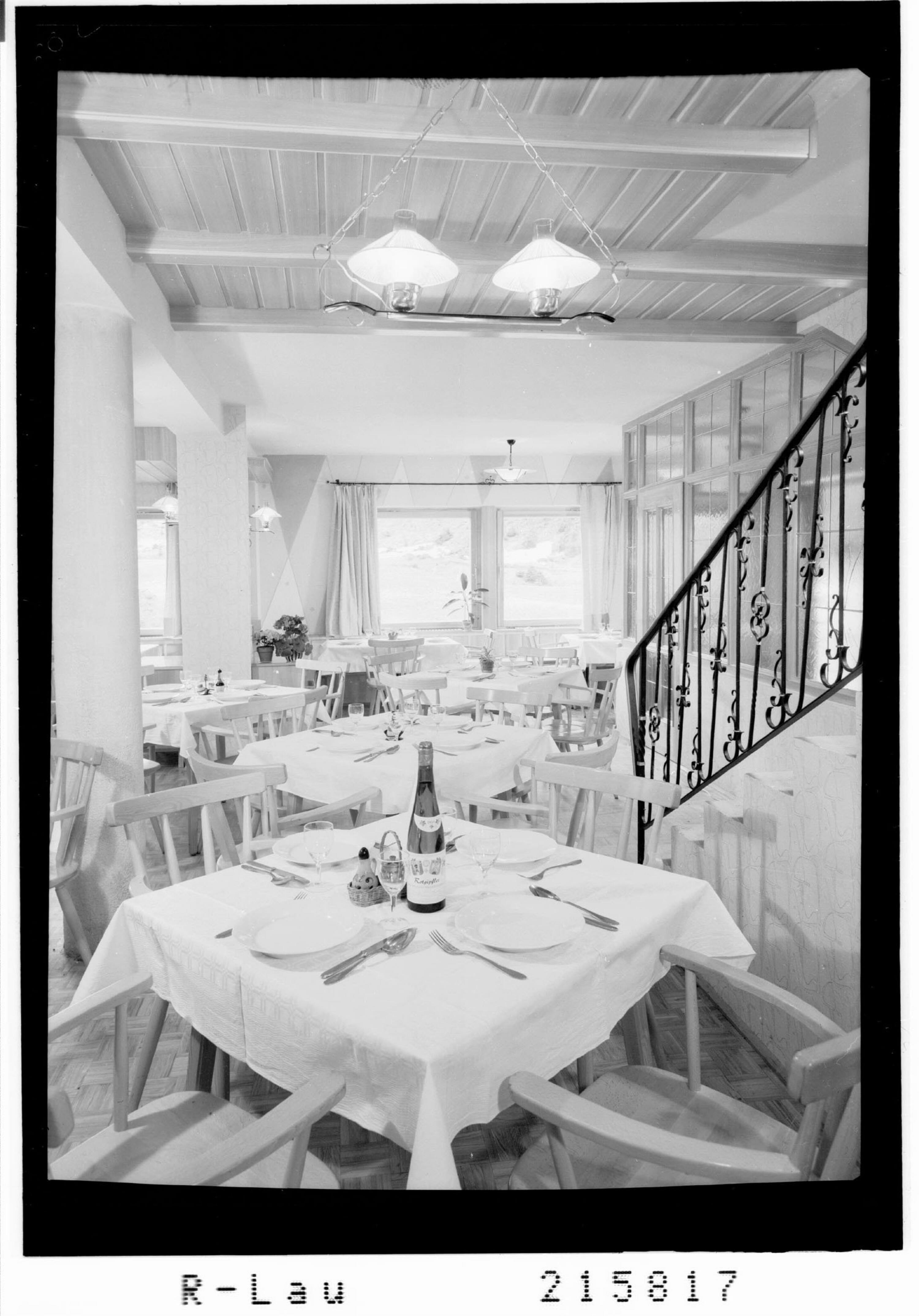 Speisesaal im Berghaus Seppl in Weisswald im Pitztal von Risch-Lau