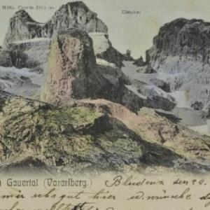 Tschagguns Drei-Thürme im Gauertal (Vorarlberg) von Gnädinger, A.