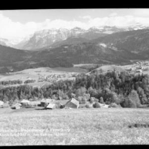 Schwarzenberg im Bregenzerwald, Vorarlberg mit Kanisfluh von Risch-Lau