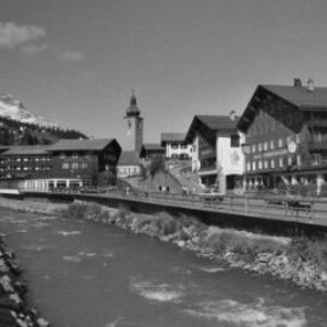 Lech, Hotel Krone, Pfefferkorn und Tannbergerhof / Rudolf Zündel von Zündel, Rudolf