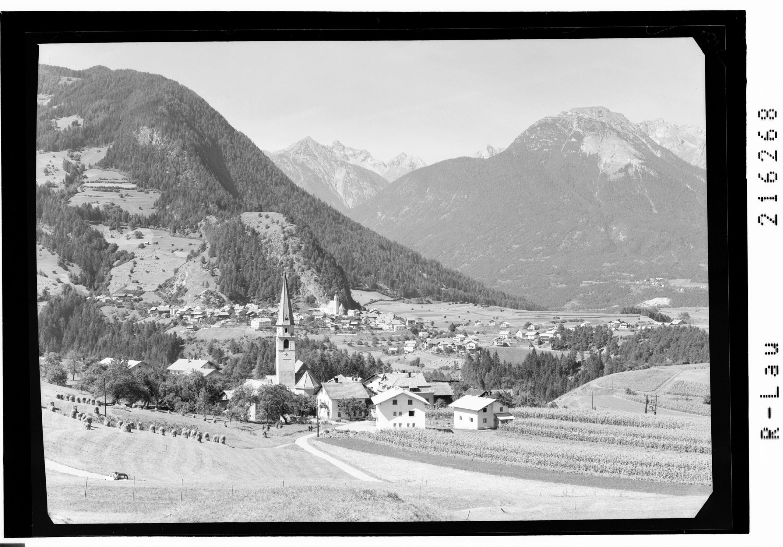 Wald bei Arzl 895 m gegen Lechtaler Alpen Pitztal / Tirol von Risch-Lau