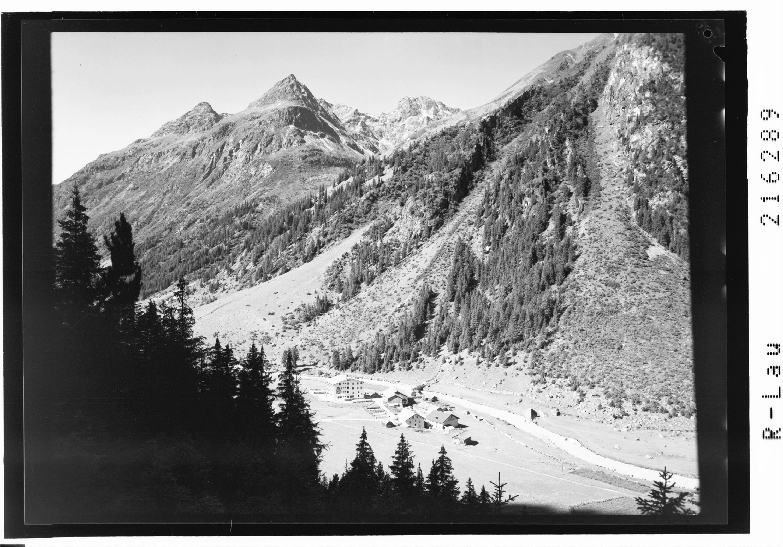 Weisswald 1560 m gegen Brandkogel, Steinkogel und Hochkogel im Pitztal / Tirol von Risch-Lau