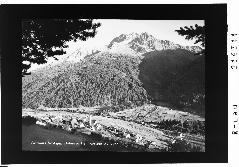 Pettneu in Tirol gegen Hohen Riffler von Risch-Lau