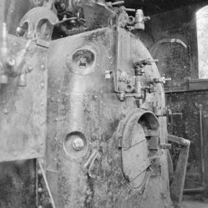 Führerstand einer Dampflokomotive / Rudolf Zündel von Zündel, Rudolf