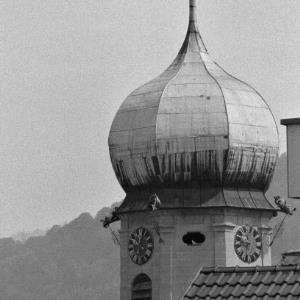 Bregenz, Kirchturmspitze der Seekapelle / Rudolf Zündel von Zündel, Rudolf