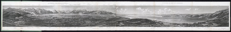 Panorama vom St. Gebhardsberg / Gezeichnet von J. B. Isenring von Teutsch