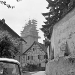 Bregenz, Kirche St. Gallus, Kirchturmrenovierung / Rudolf Zündel von Zündel, Rudolf