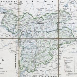Karte der gefürsteten Grafschaft Tyrol mit Vorarlberg / vom Geographen Franz Raffelsperger. Geographischer Satz von F. Rumpold von Raffelsperger, Franz