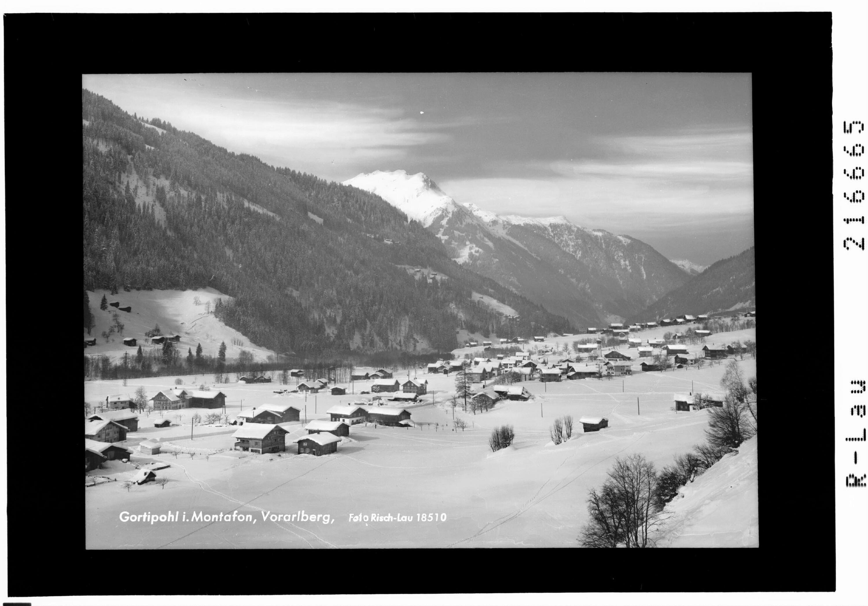 Gortipohl im Montafon, Vorarlberg von Risch-Lau