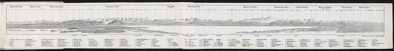Gebirgs-Panorama vom Bodensee / Aug. Lincke von Lincke