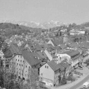 Blick von der Schattenburg auf die Feldkirch / Rudolf Zündel von Zündel, Rudolf