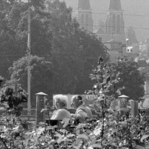 Turmspitzen der Herz Jesu Kirche in Bregenz / Rudolf Zündel von Zündel, Rudolf