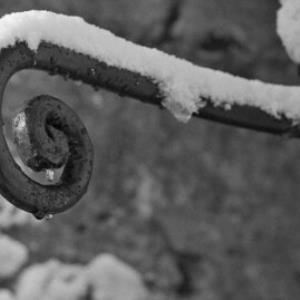 Bregenz im Winter, Geländer, Detailaufnahme / Rudolf Zündel von Zündel, Rudolf