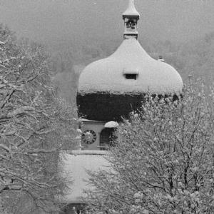 Bregenz im Winter, Martinsturm / Rudolf Zündel von Zündel, Rudolf