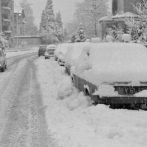 Bregenz im Winter, Gallusstraße / Rudolf Zündel von Zündel, Rudolf