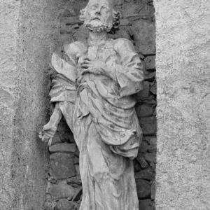 Bregenz Oberstadt, Sandsteinfigur / Rudolf Zündel von Zündel, Rudolf