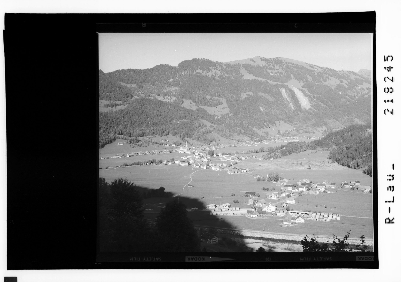 Bezau im Bregenzerwald gegen Niedere und Winterstaude von Risch-Lau
