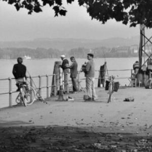 Angler am Bodensee / Rudolf Zündel von Zündel, Rudolf
