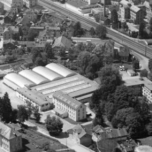 Bregenz, Städtische Gaswerke, Firma FM Rhomberg, Gärtnerei Praster von Alpine Luftbild GmbH
