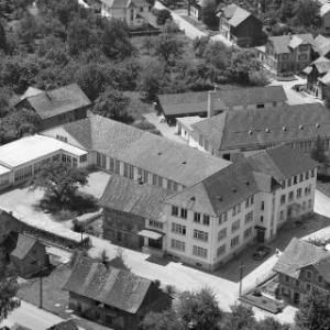 Lustenau, Kirchdorf, Roseggerstraße, Felderstraße, Firma Scheffknecht, König von Alpine Luftbild GmbH