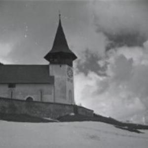 Reformierte Kirche Davos Frauenkirch / Fotograf: Norbert Bertolini von Bertolini, Norbert