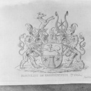 Wappen der Familie Bertolini de Gränzenstein / Fotograf: Norbert Bertolini von Bertolini, Norbert