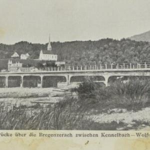Brücke über die Bregenzerach zwischen Kennelbach - Wolfurt von Seeberger, J. G.