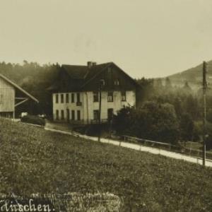 Kennelbach Gasthaus z. Hirschen / Aufnahme Josef Schmid von Schmid, Josef