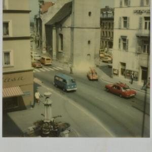 Bregenz, Rathausstraße mit Seekapelle / Fotograf: Norbert Bertolini von Bertolini, Norbert