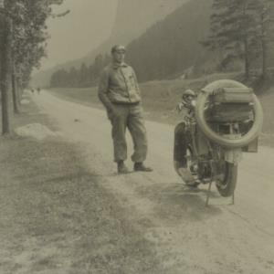 Norbert Bertolini beim Motorradfahren / Fotograf: Norbert Bertolini von Bertolini, Norbert