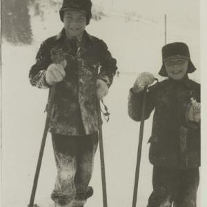 Skilauf, Helmut und Karl Bertolini / Fotograf: Norbert Bertolini von Bertolini, Norbert