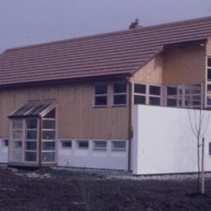 Einfamilienhaus als moderner Holzbau, Plan Rudolf Wäger / Helmut Tiefenthaler von Tiefenthaler, Helmut