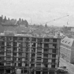 Bau eines Hochhauses im Bregenzer Weiherviertel / Oskar Spang von Spang, Oskar