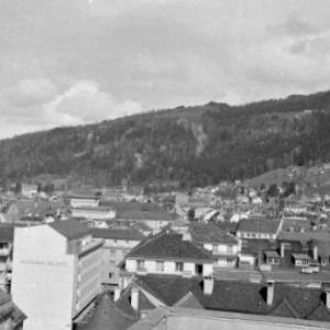 Bregenz von einem Hochhaus aus gesehen / Oskar Spang von Spang, Oskar