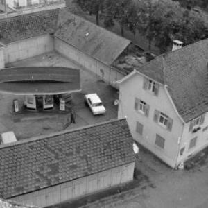 Tankstelle im Bregenzer Weiherviertel / Oskar Spang von Spang, Oskar