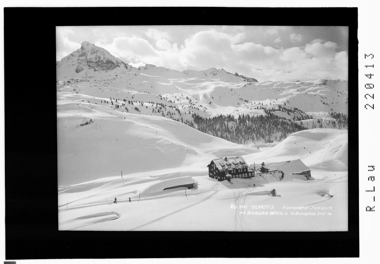 Silvretta / Alpengasthof Zeinisjoch mit Bteitspitze 2673 m und Ballunspitze 2147 m