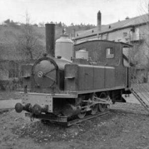 Lokomotive an der Wichnerstraße in Feldkirch / Oskar Spang von Spang, Oskar