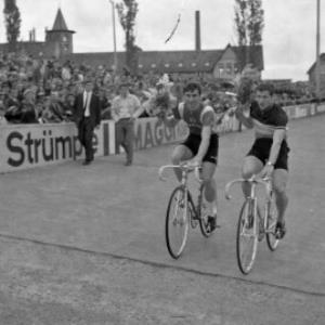 Radrennen im Bodenseestadion in Bregenz / Oskar Spang von Spang, Oskar
