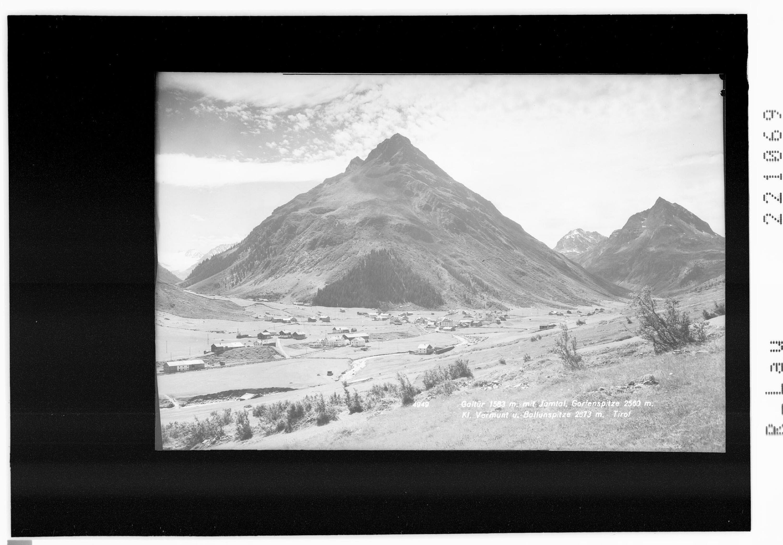 Galtür 1583 m mit Jamtal - Gorfenspitze - Klein Vermunt und Ballunspitze 2673 m von Rhomberg
