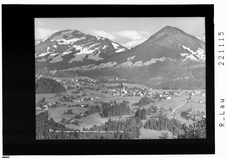 Lingenau im Bregenzerwald gegen Hittisau / Vorarlberg von Rhomberg