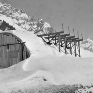 Tunnelbau in Langen am Arlberg / Oskar Spang von Spang, Oskar