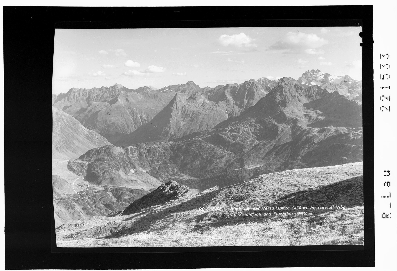 Blick von der Versailspitze 2464 m im Ferwall - Vorarlberg auf Zeinisjoch und Fluchthorn 3399 m von Rhomberg