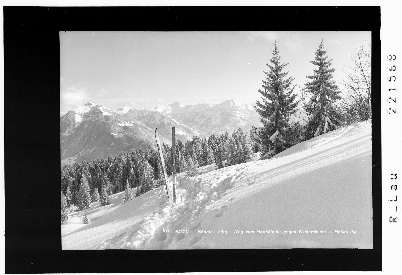 Bödele Vorarlberg / Weg zum Hochälpele gegen Winterstaude und Hohen Ifen von Rhomberg