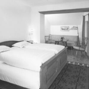 Schlafzimmer im Hospiz Hotel in St.Christoph am Arlberg von Risch-Lau