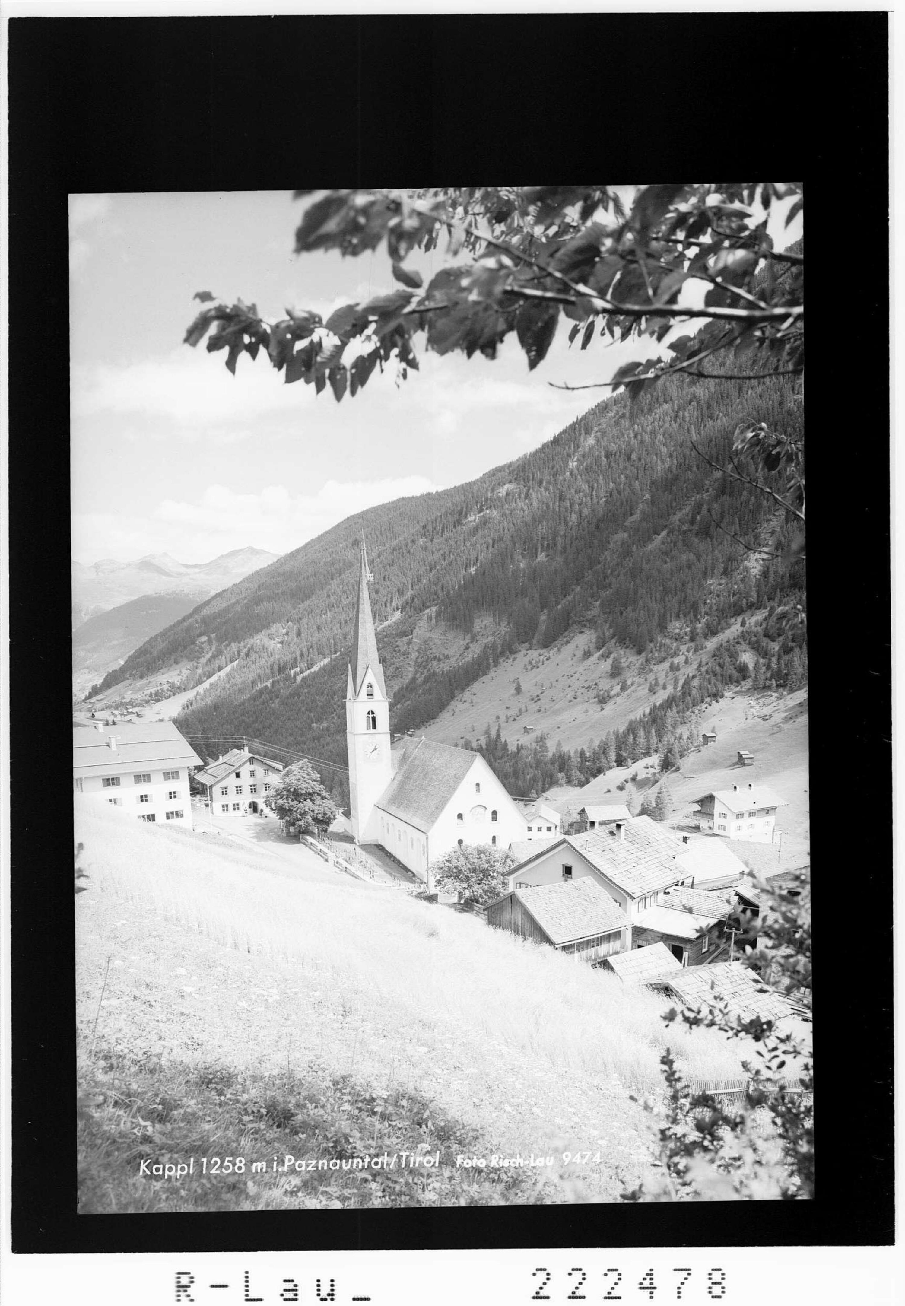Kappl 1258 m im Paznauntal / Tirol von Risch-Lau