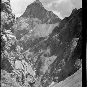 Blick vom Eisentäli zur Zimba von Risch-Lau