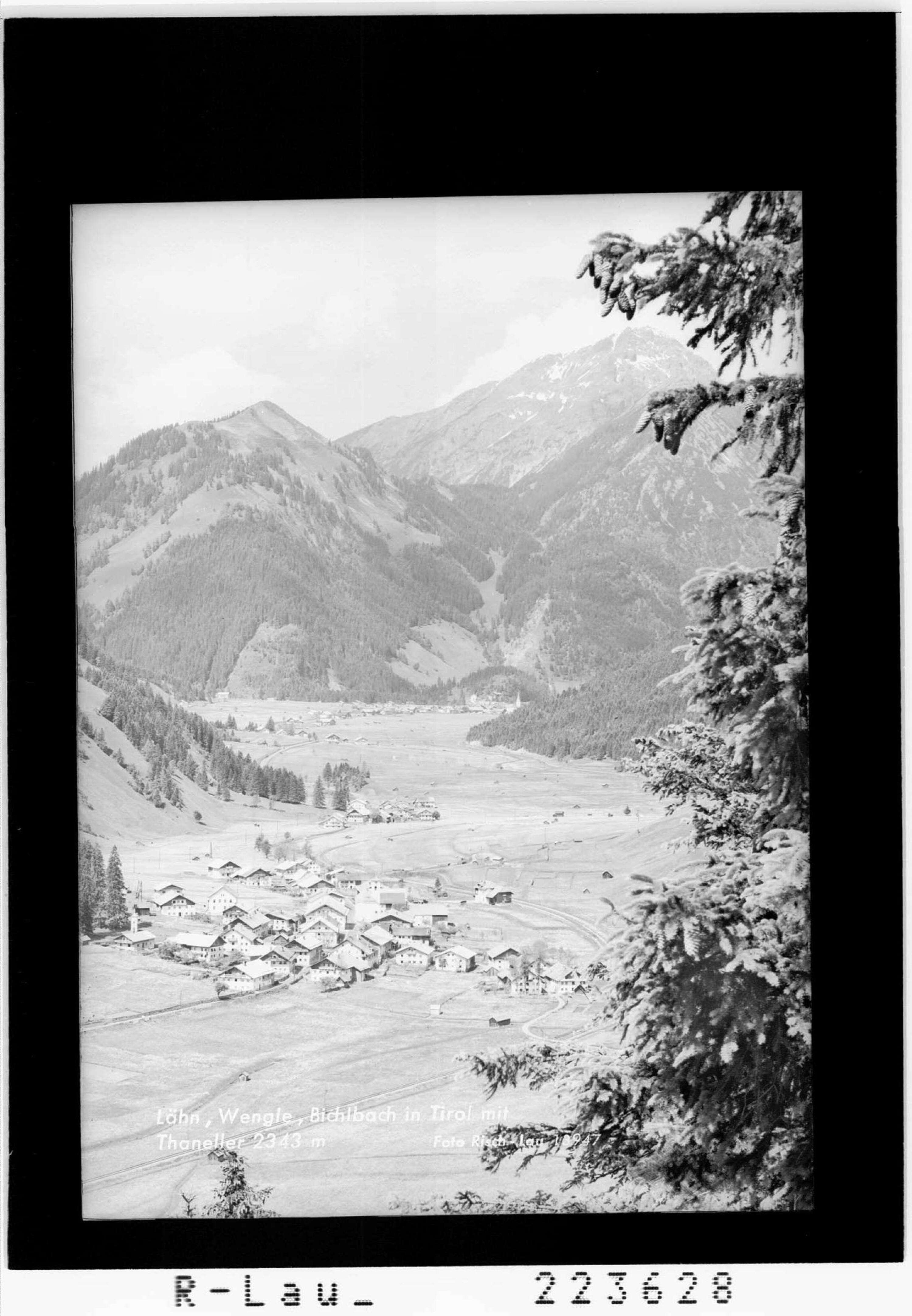 Lähn - Wengle - Bichlbach in Tirol mit Thaneller 2343 m von Risch-Lau
