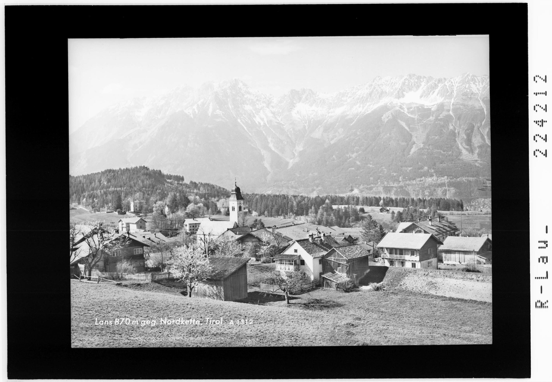 Lans 870 m gegen Nordkette / Tirol von Wilhelm Stempfle