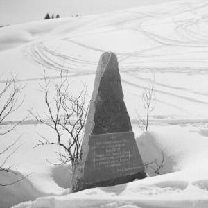 Winterlandschaft, Gedenkstein / Franz Beer von Beer, Franz