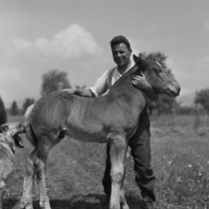 Bauer mit Pony / Franz Beer von Beer, Franz